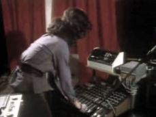 Elizabeth mixes sounds on the 'Yeoman-Clark mixer'. The matrix switching box on the right is used to connect various signals to the input of the multitrack recorder.