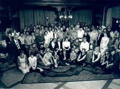 Another cast and crew shot with Gerald Blake in centre right.