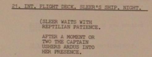 Blake's 7 Animals script
