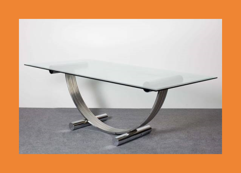 Italian chrome dining table Renato Zevi